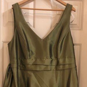 David's Bridal Olive Green Cocktail Dress